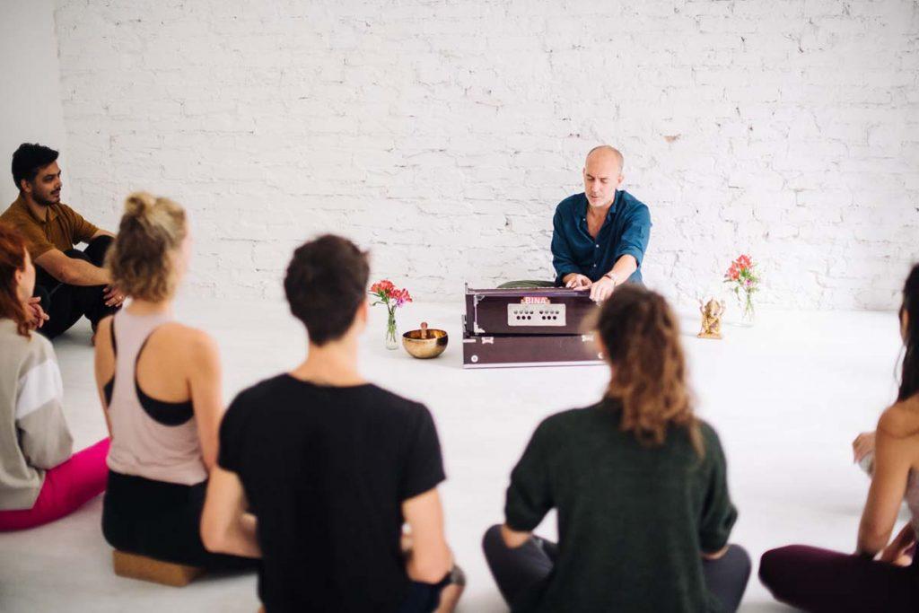Teaching Yoga To Class